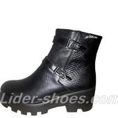 Женские демисезонные ботинки на толстой подошве
