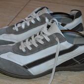 Ecco 41р туфли кроссовки слипоны кожаные. оригинал