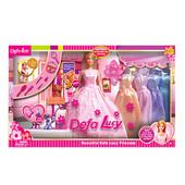 Кукла Defa с гардеробом 6073