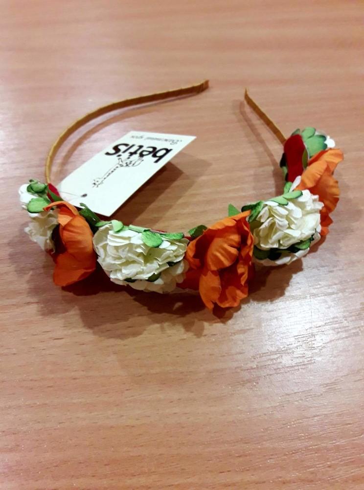 Ободок для девочки с цветочками, Бетис фото №1