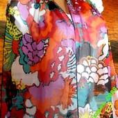 Длинный шарф 238 х 30см жатый шифон