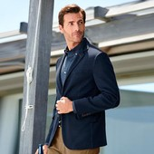 стильный мужской пиджак джерси, tcm, tchibo, р-р 52