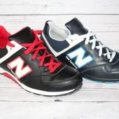 Мужские кожаные кроссовки в стиле New Balance