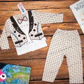 Нарядный костюм на мальчика, 68 74 размер, бабочка кофта штаны, Турция