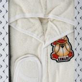 Махровый халат, банный набор в подарочной коробке Armani