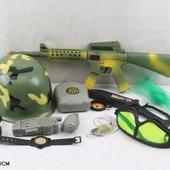 Военный набор с каской 1707B-04 Ролевые игры для мальчика войнушки
