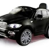 Электро автомобиль BMW X6 черный джип на р. у. 2 6v7ah с mp3 T-791