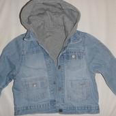 куртка джинсовая 2в1 на 9-18 мес