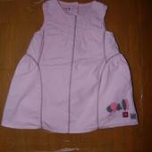 12-18 мес., хлопковое платье Франция модельное на подкладке