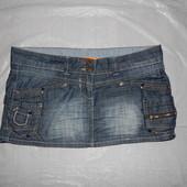 р. L, поб 50, юбка джинсовая SoulCal летний коттон