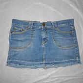 S-M, поб 46-48, юбка джинсовая Jack Wills с потертостями