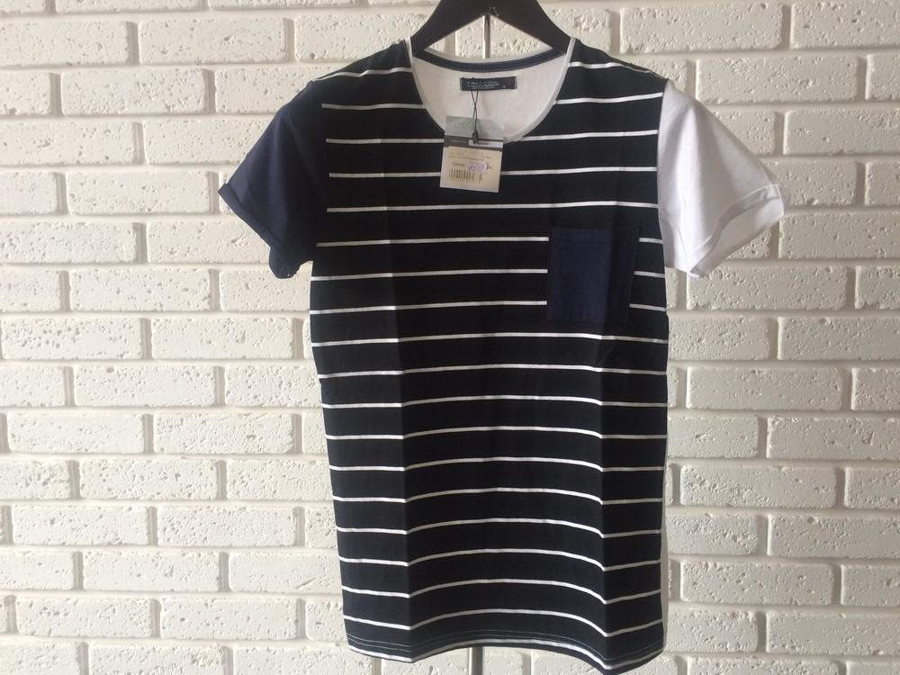 Мужская футболка темно-синяя S фото №1
