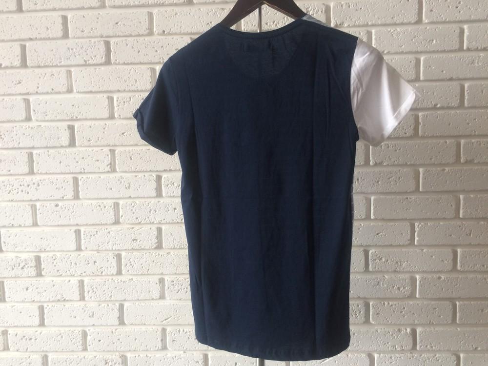 Мужская футболка темно-синяя s фото №2