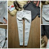 Стильные нежные джинсы-скинни Zara в орнамент,р-р М