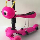 Дитячий трьохколісний самокат Scooter 5IN1