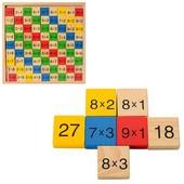 Деревянная игрушка Набор первоклассника Таблица умножения,81 пример, с обратной стороны - ответ