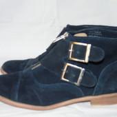 Шикарные весенние замшевые ботинки ! - 38 размер  Springfield Shoes !