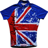 Вело футболка велосипедка синяя с британским флагом Crane S