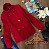 Красивое двубортное пальто А-силуэта с воротником стойкой и присобранными рукавами  OW0904