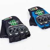 Вело-мото перчатки текстильные с усиленным протектор BC-4375: L/XL