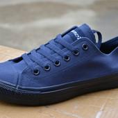 Мужские кеды низкие синие аналог converse all star blue конверс конверз