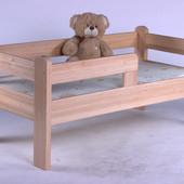 Кровать подростковая детская Ушастик. Массив ольхи.