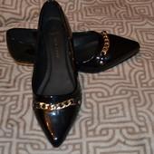 новые туфли New look Англия лак 25 см стелька