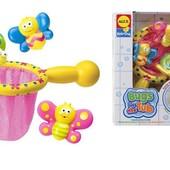 Набор для игры в ванной «Цветные букашки», Alex 695W (сша) сочек, брызгалки