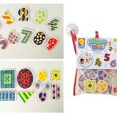 Набор для игры в ванной «Цифры и формы», Alex 632W (сша) цифры и знаки фигуры липучки для купания