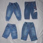 0-9 мес., р. 50-74 джинсы, фирменные джинсики для малышей в отличном состоянии