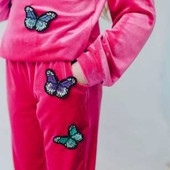 Красивый велюровый костюм Бабочка  для девочки