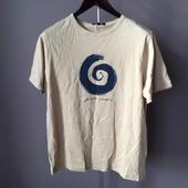 Мужская футболка бежевая М