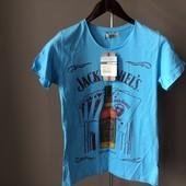 Мужская футболка синяя S xl