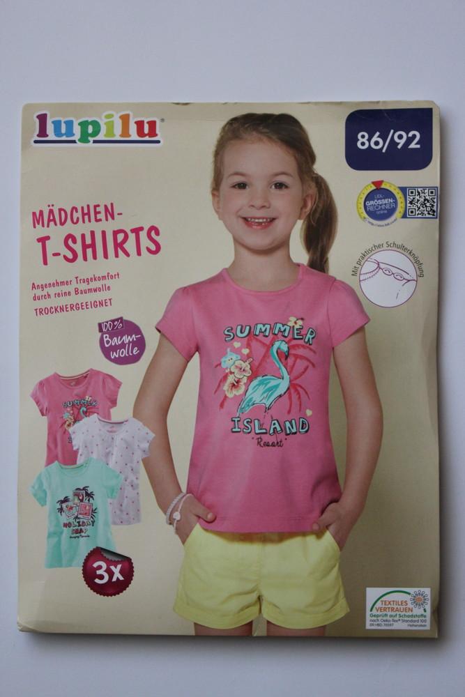 Большой выбор футболки для девочек lupilu, германия, цена за комплект 3шт фото №1