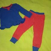 Стильная пижама на 1-2 года состояние отличнейшее
