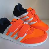 Оранжевые легкие кроссовки 32-36 р