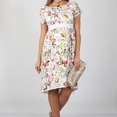 Оригинальное платье для беременных и кормящих, ирисы на молоке