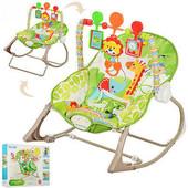 Детский шезлонг Bambi 3239,5 мелодий, вибро, 3 положения,80-40-59см