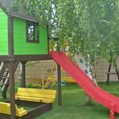 Baby Smile classic детская игровая площадка, комплекс: горка, качели, песочница