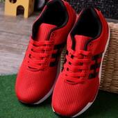 Мужские легкие кроссовки 12995-4 красные и синие