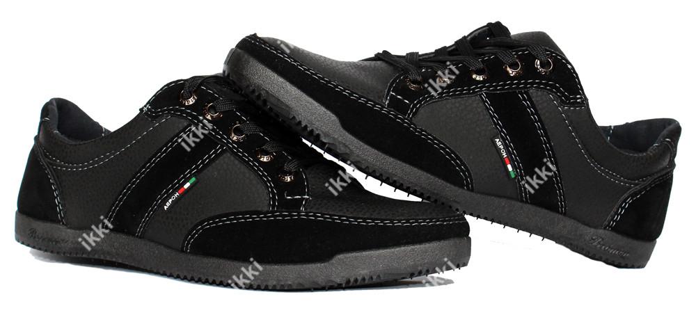 40 р Мужские кроссовки демисезонные черные (БЛ-03ч) фото №1