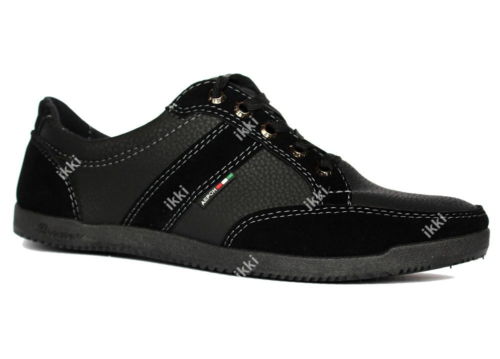 40 р Мужские кроссовки демисезонные черные (БЛ-03ч) фото №2