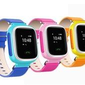 Детские часы с gps трекером Smart Baby Watch Q60 3 цвета