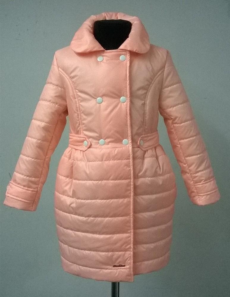 Демисезонное пальто на девочку 122,128,134,140р. фото №1