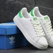 Мужские кроссовки Adidas Stan Smith white/green