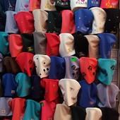 Модные трикотажные шапки для девочек объем 50-54 см