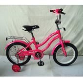 """Детский двухколесный велосипед Profi Star 14 """" Малиновый (L1492) с зеркалом"""
