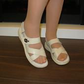 Босоножки сандалии кожа на липучках 2 цвета Н7431