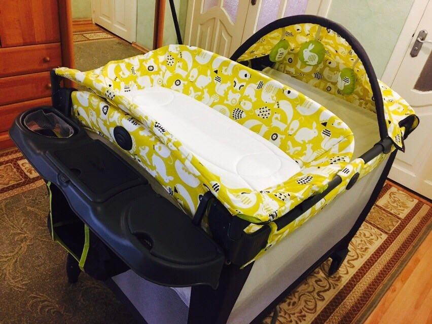 Новый манеж - кроватка graco в упаковке. оригинал с америки. грако. фото №12