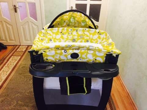 Новый манеж - кроватка graco в упаковке. оригинал с америки. грако. фото №2